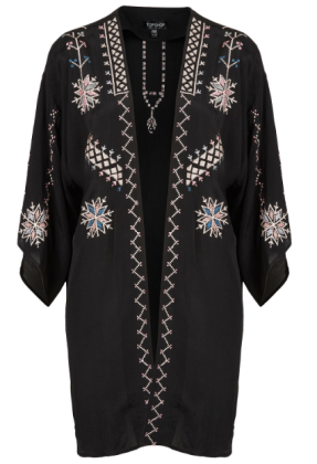 Topshop Aztec Embroidered Tunic