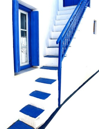 Blue & White Steps