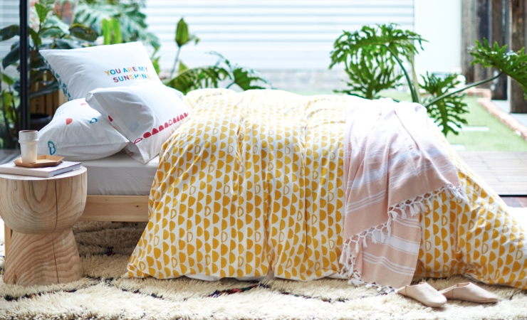 Sage and Clare Block Printed Bedlinen 1