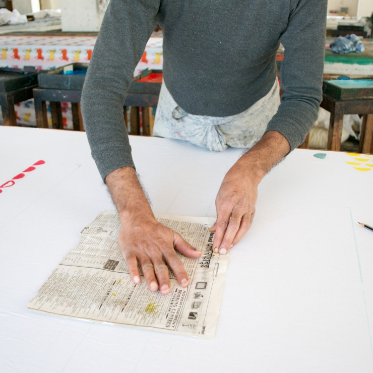 Sage and Clare Block Printing 1