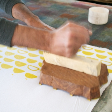 Sage and Clare Block Printing 7