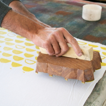 Sage and Clare Block Printing 8