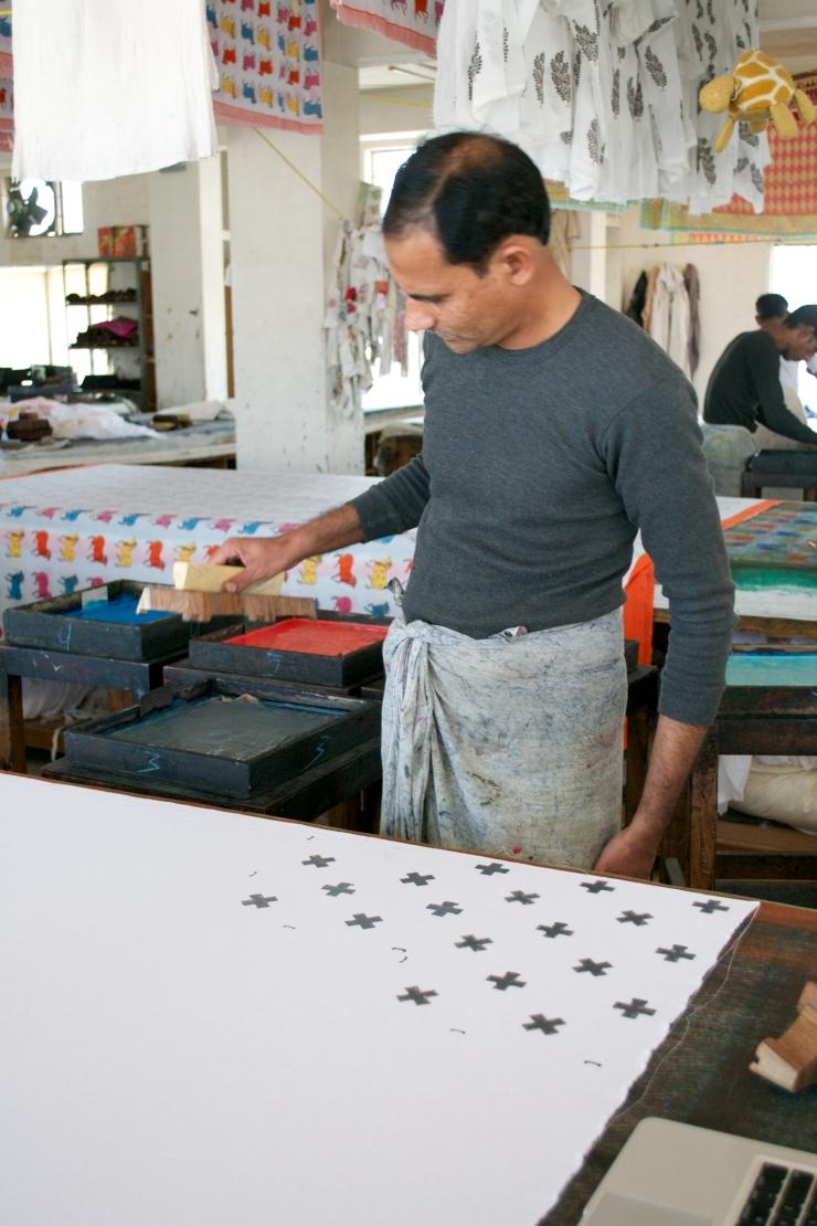 Sage and Clare Block Printing  Sampling