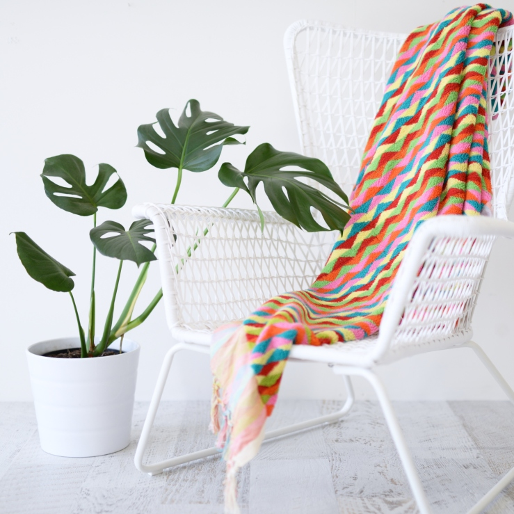Luxurious Colourful Zig Zag Bath or Beach Towel 4