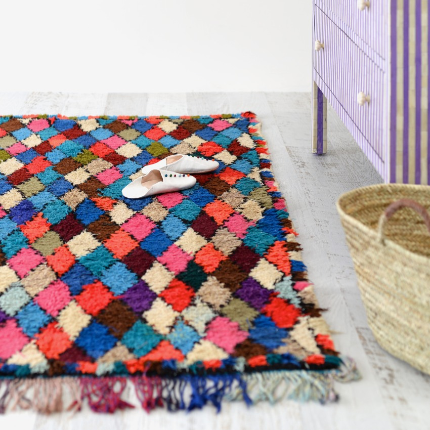 Moroccan Vintage Rag Rug 9