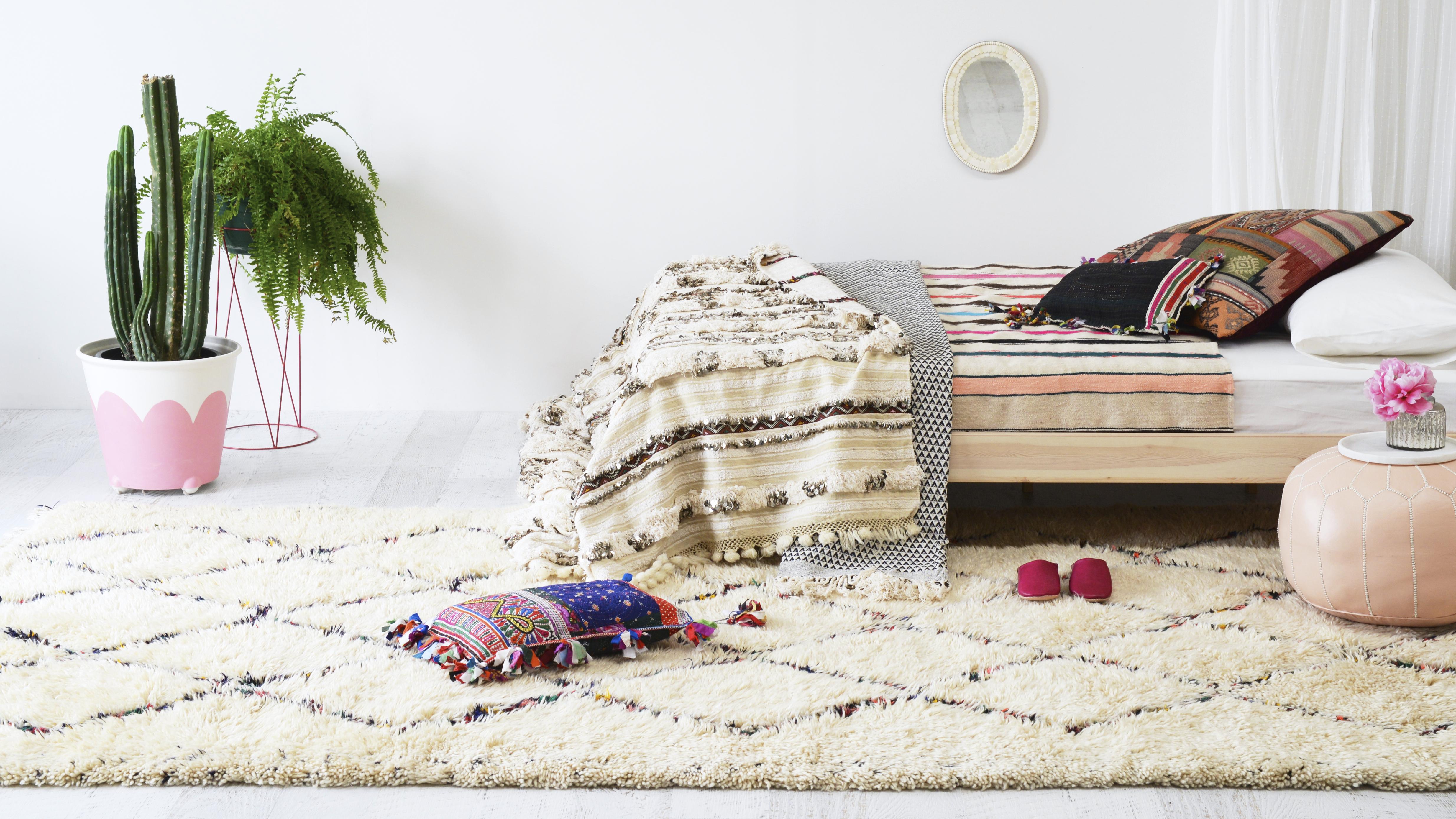 sxc10845 vintage moroccan berber shag rug sage and clare
